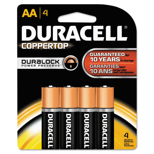 Duracell CopperTop Alkaline AA Battery ; (041333415017)