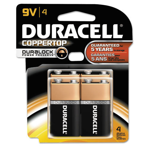 Duracell CopperTop Alkaline 9-Volt Battery ; (041333827018)