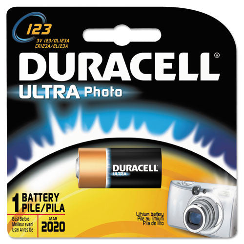 Duracell DL123A Lithium Camera Battery ; (041333112107)