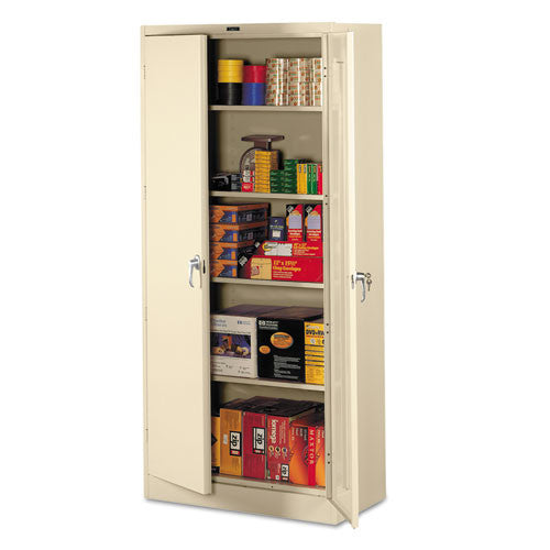 Tennsco Full-Height Deluxe Storage Cabinet TNN7824PY, Putty (UPC:447671027491)