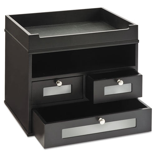Victor Midnight Black Tidy Tower Organizer VCT55005, Black (UPC:014751550059)