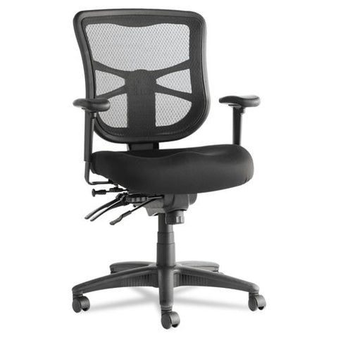 Alera Elusion Series Mesh Mid-Back Multifunction Chair Front Facing View