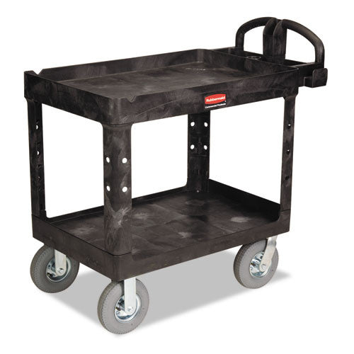 Rubbermaid Commercial Heavy-Duty Utility Cart RCP452010BLA,  (UPC:086876184297)