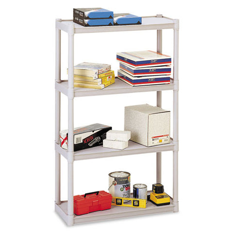 Iceberg Rough 'N Ready 4-Shelf Open Storage System ICE20843, Silver (UPC:674785208434)