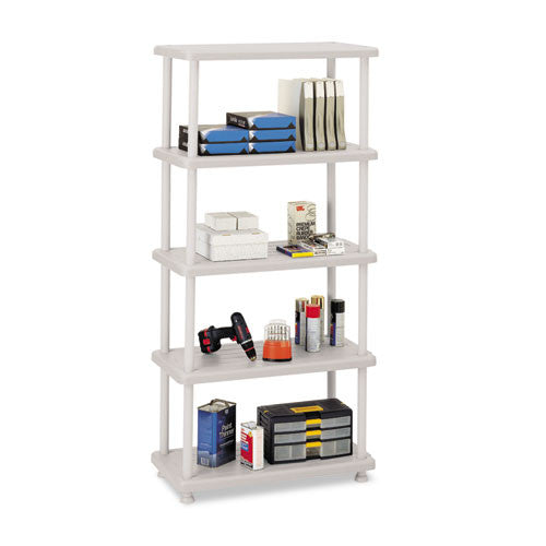 Iceberg Rough 'N Ready 5-Shelf Open Storage System ICE20853, Silver (UPC:674785208533)