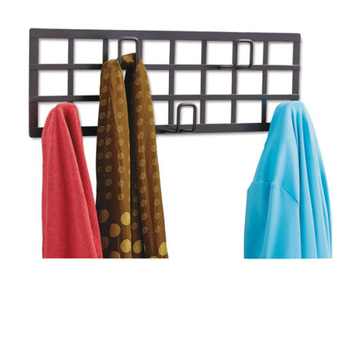 Safco Steel Grid Coat Rack ; (073555466324); Color:Black