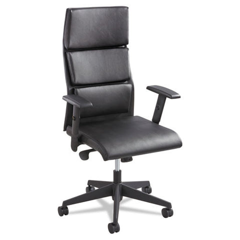 Safco Tuvi High Back Leather Executive Chair SAF5070BL, Black (UPC:073555507027)