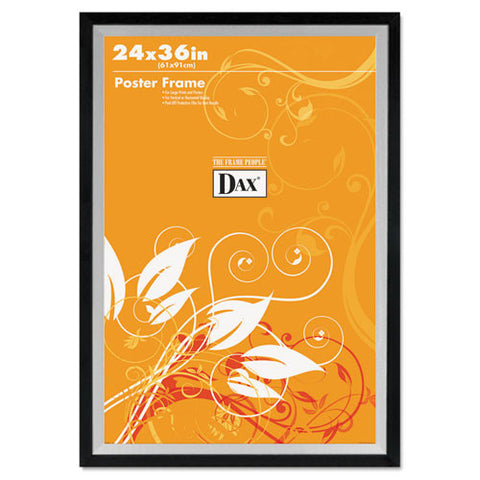 Dax Metro 2-tone Wide Poster Frame ; (076795296065); Color:Black,Silver