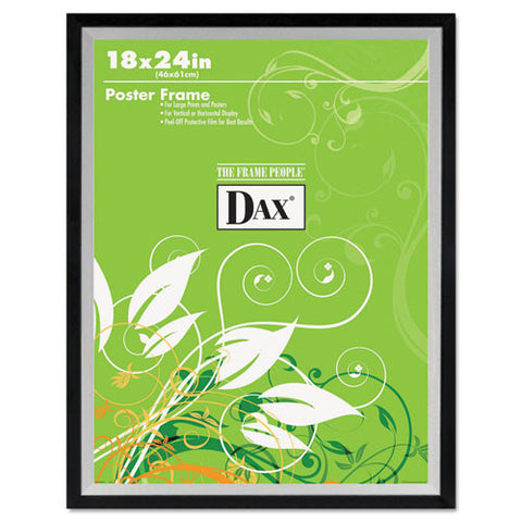 Dax Metro 2-tone Wide Poster Frame ; (076795296089); Color:Black,Silver