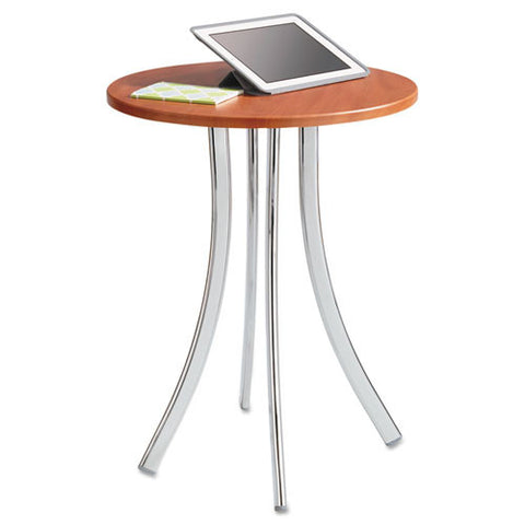 Safco Decori Wood Side Table, Tall SAF5099CY, Silver (UPC:073555509946)