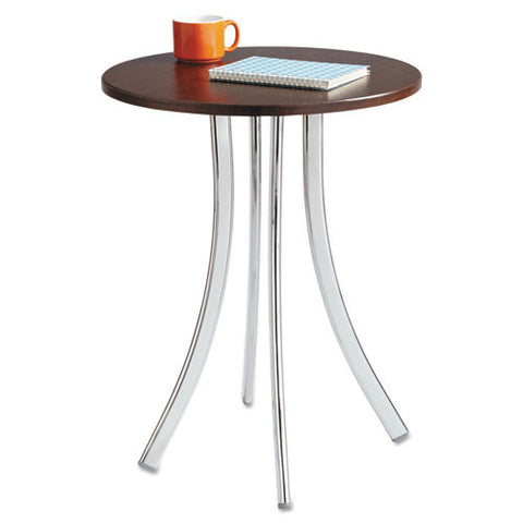 Safco Decori Wood Side Table, Tall SAF5099MH, Silver (UPC:073555509922)