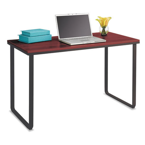 Safco Steel Table Desks ; Cherry top ; (073555194357)