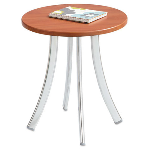 Safco Decori Wood Side Table, Short SAF5098CY, Silver (UPC:073555509847)