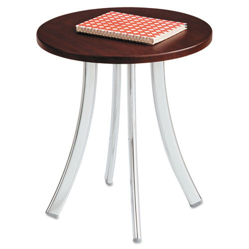 Safco Decori Wood Side Table, Short SAF5098MH, Silver (UPC:073555509823)