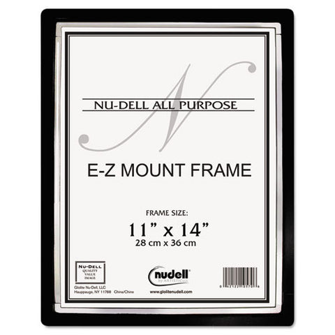 Nu-Dell EZ Mount Document Frame ; (042122480056); Color:Black,Silver Trim