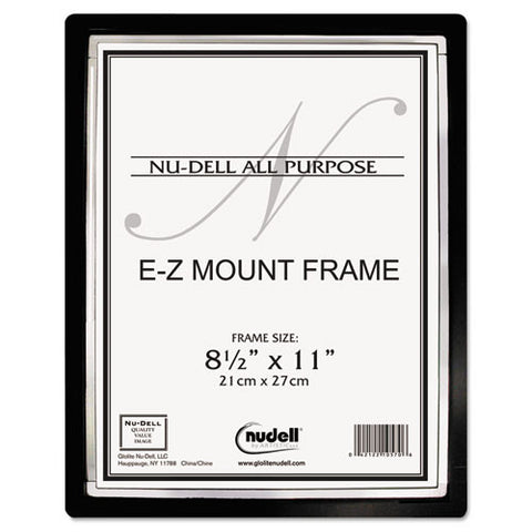 Glolite Nu-dell EZ Mount II Document Frame ; (042122480032); Color:Black,Silver Trim