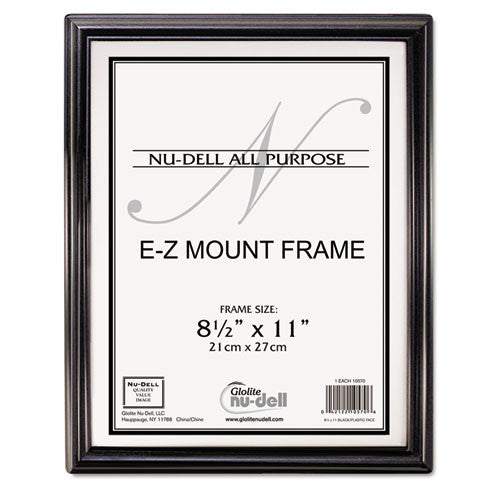 Glolite Nu-dell EZ Mount Document Frame ; (042122105706); Color:Black,Silver
