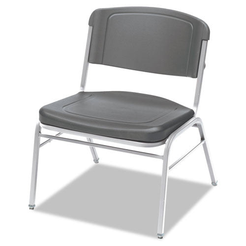 Iceberg Big and Tall Stack Chairs, 4-Pack ICE64127, Gray (UPC:674785641279)
