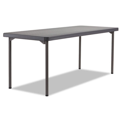 Iceberg Maxx Legroom Light Folding Table ICE65892, Black (UPC:674785658925)
