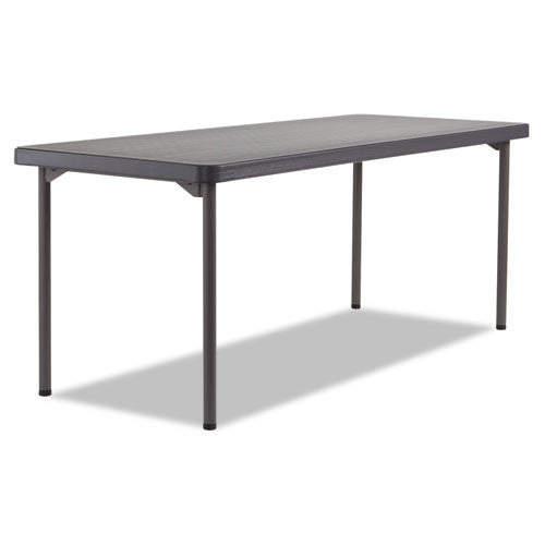 Iceberg Maxx Legroom Light Folding Table ICE65896, Black (UPC:674785658963)