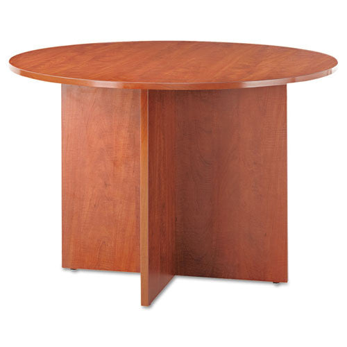 Alera Valencia Series Round Conference Tables with Straight Leg Base ALEVA7142MC,  (UPC:042167303662)