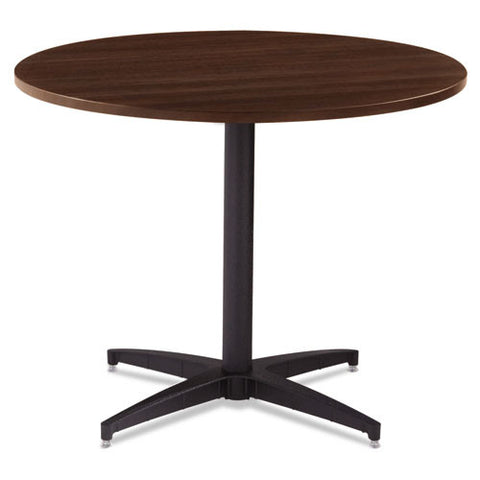 Iceberg OfficeWorks Round Tabletop ICE69142, Brown (UPC:674785691427)