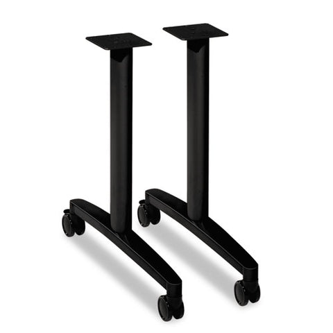 HON Huddle Table Base Kit | T-Style | Black Finish | 2 Bases per Kit ; UPC: 888206141853 ; Image 1