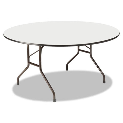Iceberg Premium Wood Laminate Folding Table ICE55267, Gray (UPC:674785552674)