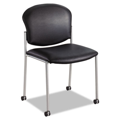 Safco Black Vinyl Diaz Guest Chair SAF4194BV, Black (UPC:073555419467)