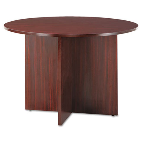 Alera Valencia Series Round Conference Tables with Straight Leg Base ALEVA7142MY,  (UPC:042167303679)