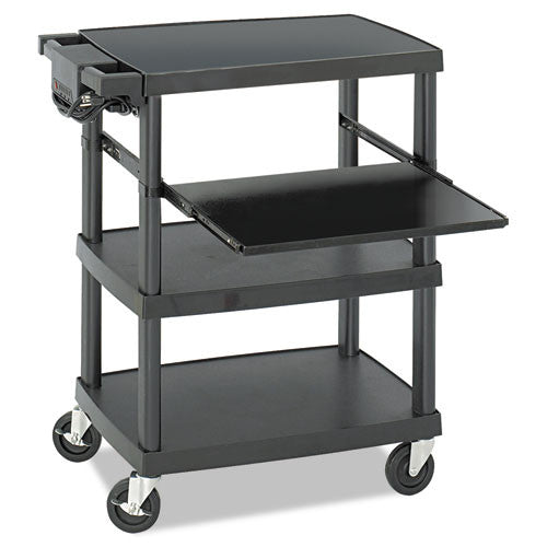 Safco Multimedia Projector cart SAF8929BL, Black (UPC:073555892925)