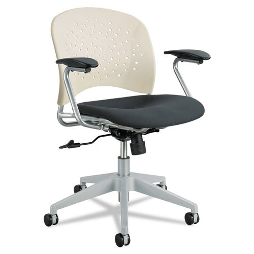 Safco Reve Task Chair Round Back SAF6803LT, Black (UPC:073555680348)