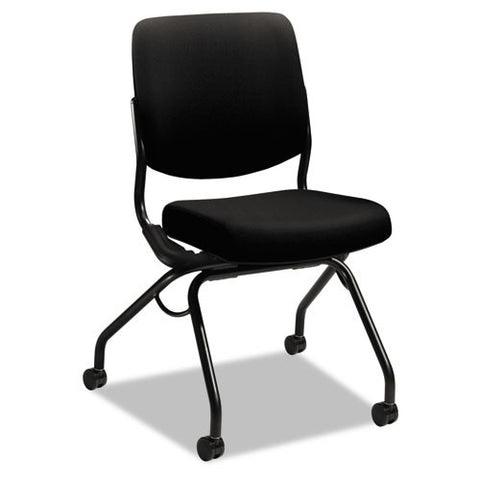 HON Perpetual Upholstered Back Nesting Chair in Black ; UPC: 782986318422