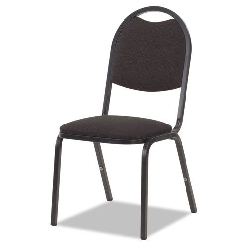 "Virco 2"" Foam Seat Upholstered Stack Chair VIR8917B259BK01, Black (UPC:882659522726)"