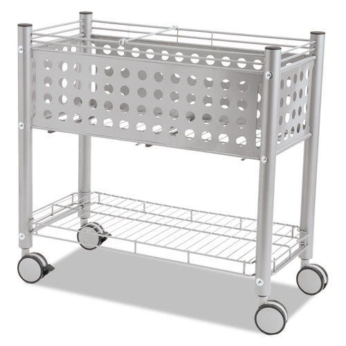 Vertiflex Open Top Rolling File Cart VRTVF52000, Gray (UPC:015433520001)