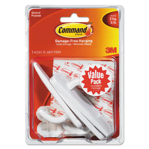 Command Large Hooks Value Pack ; (051131949416)