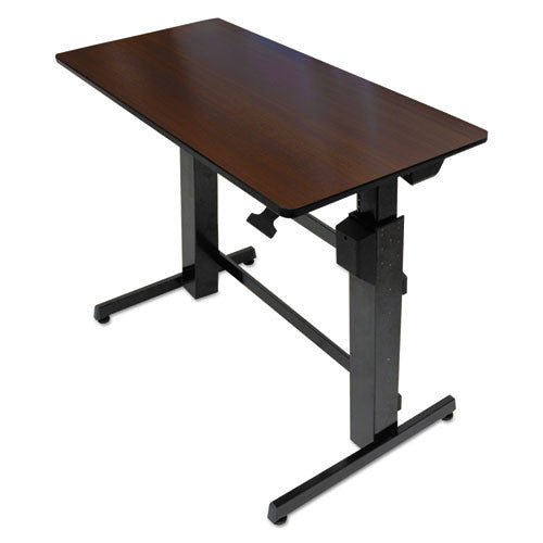 Ergotron WorkFit-D, Sit-Stand Desk (Walnut Surface) ERG24271927,  (UPC:698833031843)