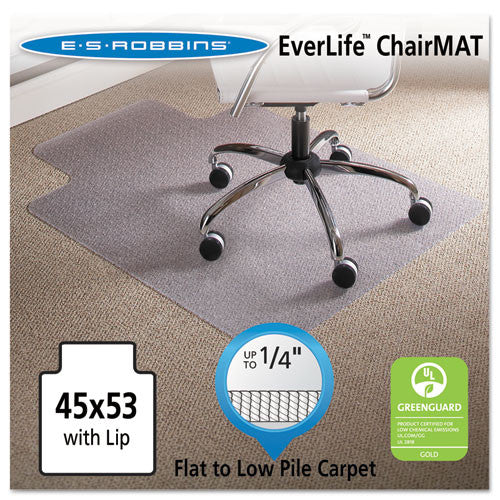 ES Robbins Task Series AnchorBar Carpet Chair Mat ESR120123, Clear (UPC:012544201232)