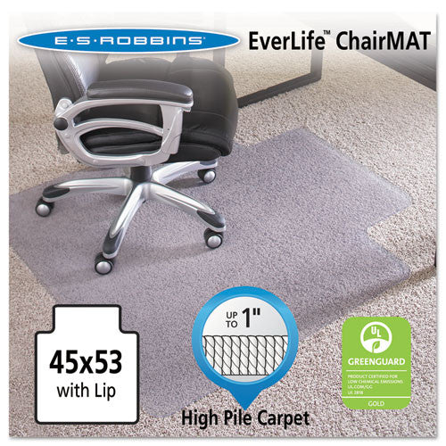 ES Robbins EverLife Intensive Use Chair Mat for High to Extra-High Pile Carpet ESR124154,  (UPC:012544241542)