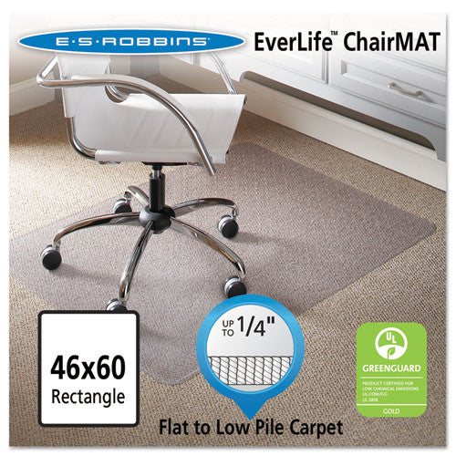 ES Robbins Task Series AnchorBar Carpet Chair Mat ESR120321, Clear (UPC:012544203212)