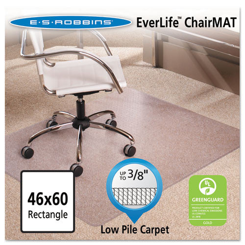 ES Robbins Multi-Task AnchorBar Carpet Chair Mat ESR128371, Clear (UPC:012544283719)