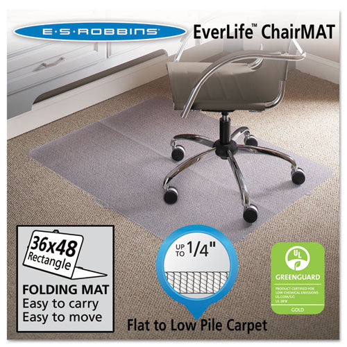 ES Robbins Foldable Chair Mats ESR120082, Clear (UPC:012544200822)