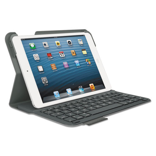 Logitech Ultrathin Keyboard/Cover Case (Folio) for iPad mini - Gray ; (UPC: 097855101266)