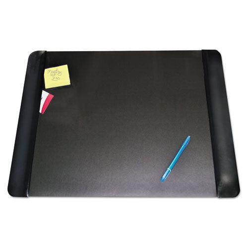 Artistic Executive Desk Pad with Leather-like Panel AOP413841, Black (UPC:030615138416)