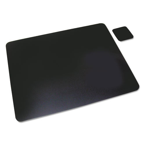 Artistic Plain Leather Desk Pads AOP1924LE, Black (UPC:030615030109)