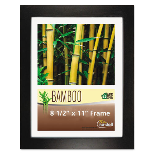 Glolite Nu-dell Earth Friendly Bamboo Frames ; (042122141858); Color:Black,Clear Cover