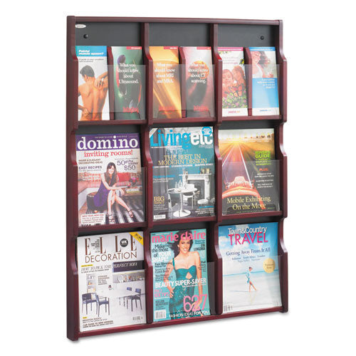 Safco Expose Literature Rack SAF5702MH, Black (UPC:073555570229)