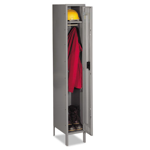 Tennsco Single-Tier Locker with Legs TNNSTS1218721MG, Gray (UPC:044767118417)