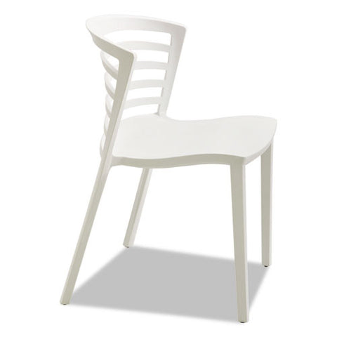 Safco Entourage Stack Chair - Grass (qty. 4) SAF4359WH, White (UPC:073555435993)