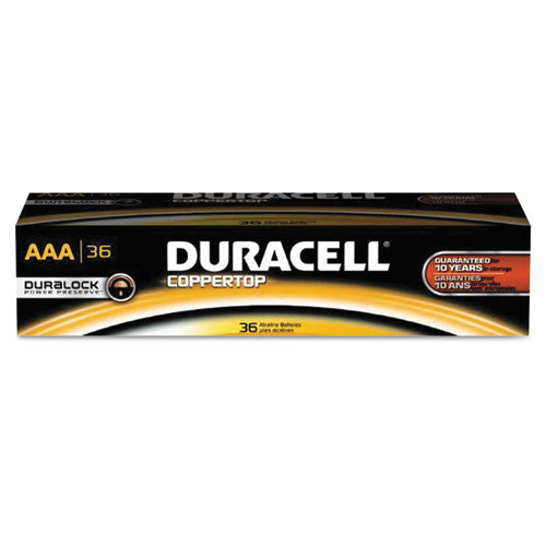 Duracell CopperTop Alkaline AAA Batteries ; (041333665313)
